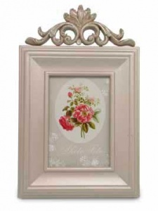 Marco rectangular vertical deco flores