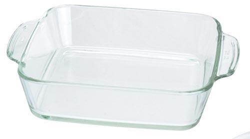 Fuente de horno de vidrio cuadrada arcuisine - Fuentes para horno ...