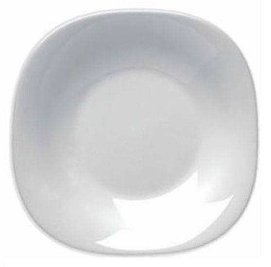 Plato postre parma vidrio tensionado vajillas porcelana for Platos porcelana blanca
