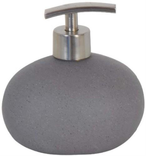 Accesorios Baño Gris:Dosificador de jabón cerámica Piedra gris