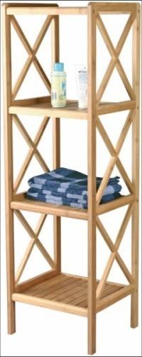 Estanteria para ba o madera for Accesorios bano bambu