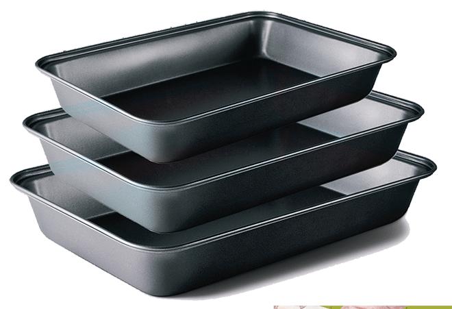 fuentes para horno rectangulares con antiadherente