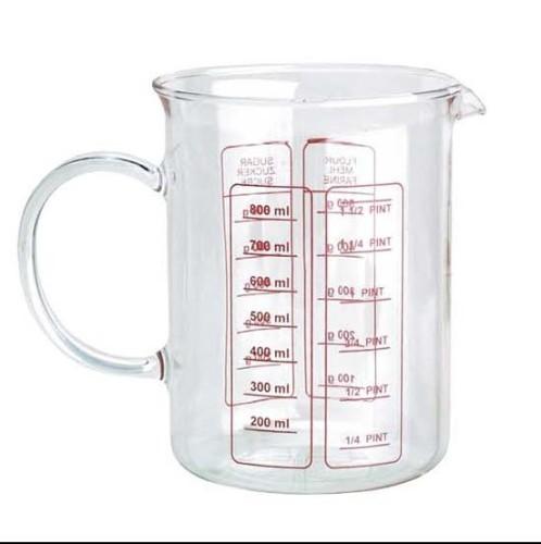 Jarra medidora de vidrio compra utensilios de cocina online - Precio del vidrio ...