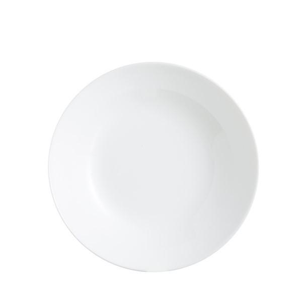 Plato hondo zelie blanco vajillas econ micas for Plato blanco