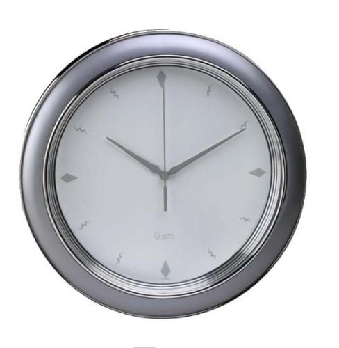 Reloj de cocina de pared plateado mate relojes de pared - Relojes pared cocina ...