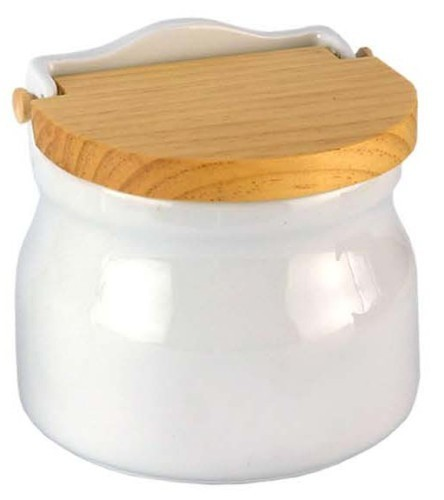 Salero de cocina oval tapa madera for Saleros de cocina