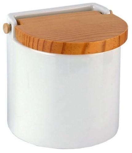 Salero de cocina redondo tapa madera for Saleros de cocina