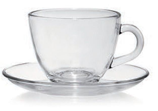 Taza de desayuno con plato de vidrio tazas economicas for Juego de tazas de te