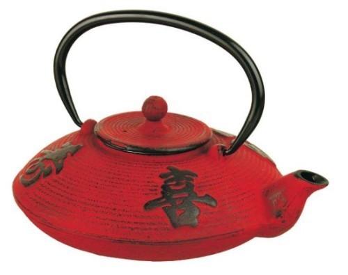 Tetera japonesa de hierro fundido roja comprar teteras for Hierro colado