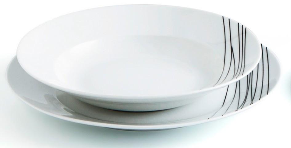 Vajilla jazz 18 piezas porcelana comprar vajillas baratas for Vajilla porcelana