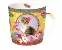 Mug caja metal fancy cat