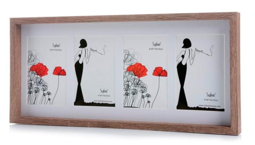 Marco de 4 fotos 10x15cm madera| Comprar marco fotos barato